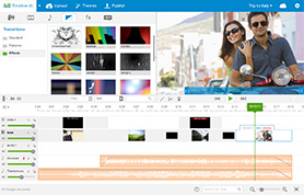 WeVideo Advanced Timeline mode