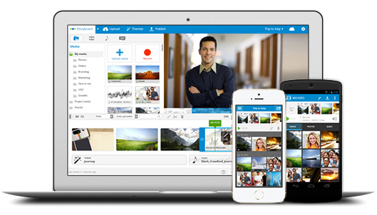 WeVideo tools for business - mobile and desktop