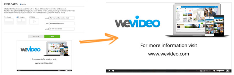 Personalize your videos with your logo and contact information