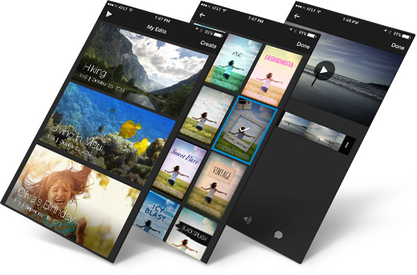 Trim and style your videos with WeVideo mobile apps.