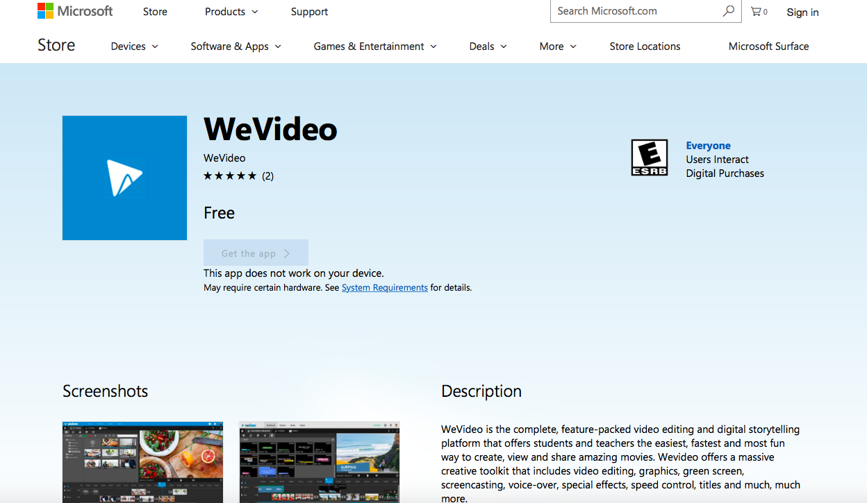 WeVideo | Microsoft Selects WeVideo as One of First Apps Featured in