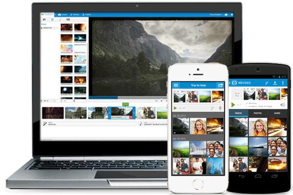 WeVideo for education - mobile and desktop
